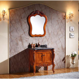 Modern Glossy Painting Bathroom Vanities Wooden Cabinet (GSP14-010) pictures & photos