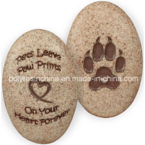 Polyresin Angelstar Dog Paw Print of Decorative Stone pictures & photos