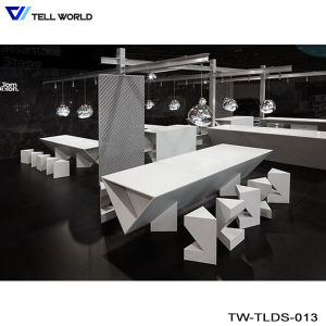 Artificial Marble Stone Kfc Restaurant Long Dining Table pictures & photos