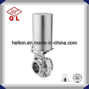 S304 Sanitary Butterfly Valve with Pneumatic Actuator Double Acting pictures & photos