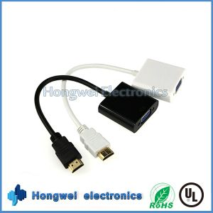 OEM 1080P Male to Female 1.4HDMI to VGA Converter Cable pictures & photos
