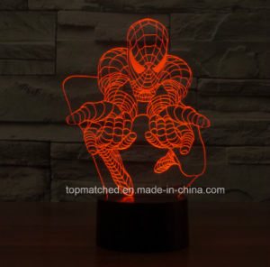 New Spiderman Decorative LED 3D Night Lights pictures & photos