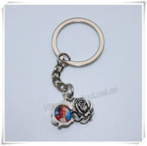 Small Religious Metal Rose with Images Key Chain, Catholic Rose Key Holder (IO-ck111) pictures & photos