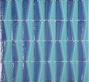 Anti Slip Water Proof Swimming Pool Frosting Glass Mosaic pictures & photos