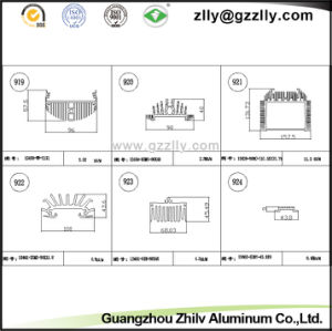 Building Material Aluminum Heat Sink for Railway Locomotives pictures & photos