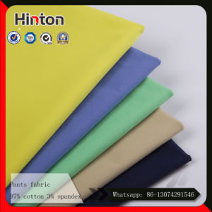 220GSM Thick Pant Fabric 97% Cotton 3% Spandex Fabric pictures & photos