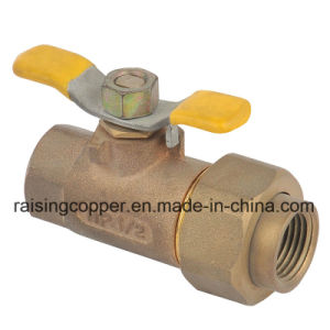 Casting Bronze Ball Valve with Butterfly Handle pictures & photos