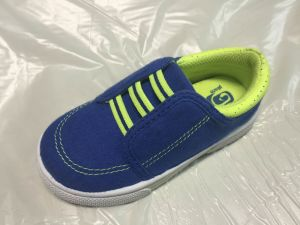 Children′s Canvas Upper Comfortable Fashion Shoe with Injection TPR Outsole pictures & photos