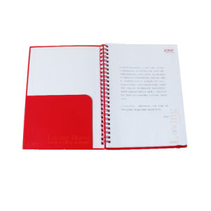 Custom Inner Printing Leather Spiral Notebook with Elastic Band pictures & photos