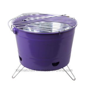 Mini Foldable Bucket Shape Outdoor Garden Charcoal BBQ Grill pictures & photos