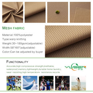 Hotsale 100% Polyester Tricot Warp knitted Mesh Fabric pictures & photos