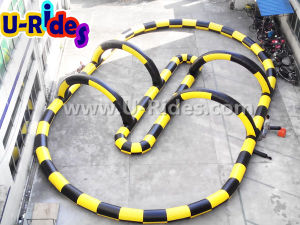 Wholesale sport games zorb ball race track inflatable go kart track rental pictures & photos