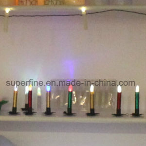 Elegant Fire Safe Small Color Changing Electronic Flameless Imitation Dripping LED Taper Candles pictures & photos