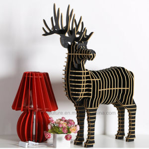 DIY Creative Animal Wooden Deer Table Furishings pictures & photos
