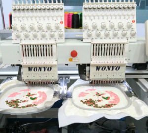 2 Heads Sequin Embroidery Machine for Cap T-Shirt Embroidery pictures & photos