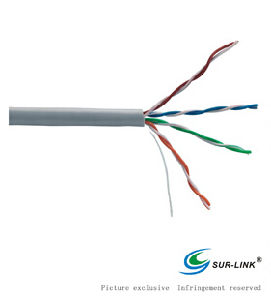 24AWG Grey UTP Cat. 5e Solid LAN Cable pictures & photos