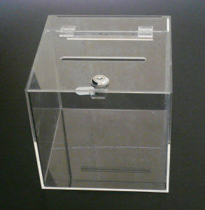 Customize Clear Cube Donation Acrylic Box pictures & photos