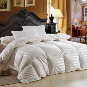 Hilton Hotel Goose Down Duvet Cotton Stripe Cover Bed Linen Comforter pictures & photos