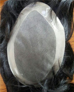 "Indian Remy Hair Mono+Npu Toupee 6""  6*8inch pictures & photos"