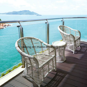 Hot Sale Garden Aluminum Frame Rattan Patio Outdoor Furniture Round Table pictures & photos