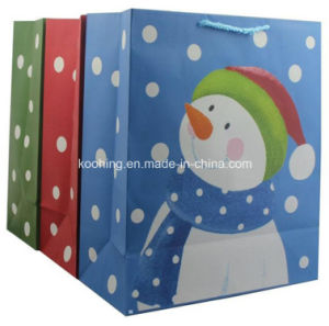 Competitive Price Recyclable Christmas Paper Bag pictures & photos