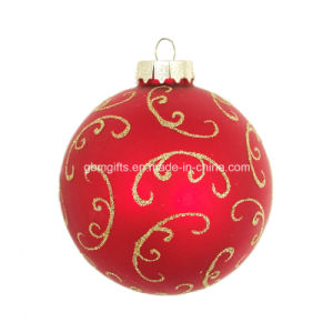 Hot Sale Glass Christmas Balls with Customized Design pictures & photos