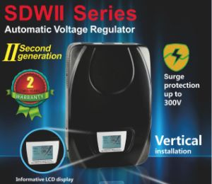 Sdwii- Servo Motor Single Phase LED Display AC Automatic Voltage Regulator/Stabilizer/AVR pictures & photos