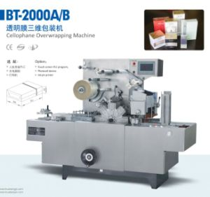 Automatic Transparent Film Wrapping Machine/Over Wrapping Machine/BOPP Packing Machine/ Package Machinery for Cigarette Box/Coffee /Folding Cartonbt2000A/B pictures & photos