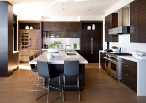 Kitchen Island Wood Benchtop Kitchen Cabinet pictures & photos