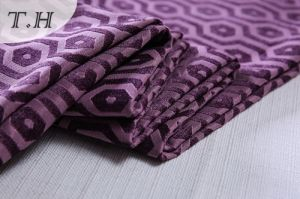 2017 Purple 100% Polyester Fabrics for Sofa and Furniture (FTH32095) pictures & photos