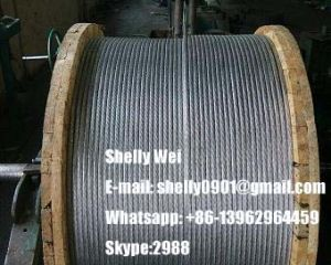 "3/16"", 1/4"", 9/32"", 5/16"", 3/8"", 1/2"", 9/16"", 5/8""Zinc-Coated Steel Wire Strand as Per ASTM a 475 pictures & photos"