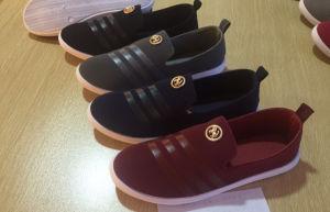 Latest Design Injection Men Canvas Shoes Comfort Shoes Slip-on Shoes pictures & photos