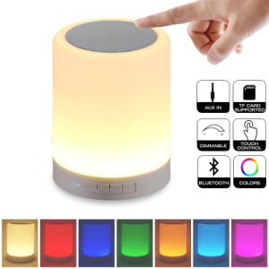 Support Aux TF Card Touch Control Changing Color Night Light Bluetooth Speaker pictures & photos
