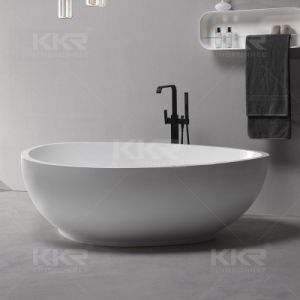 Vietnam Project Matt White Solid Surface Freestanding Bathtub pictures & photos