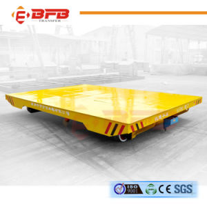 50t Battery Operated Steel Mill Motorized Rail Trailer for Coil Handling pictures & photos