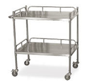 S. S Medical Trolley with 2 Shelves (SC-HF30) pictures & photos
