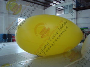 Inflatable Advertising Flying Zeppelin Blimps Yellow Blank