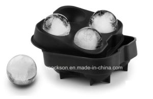 Whiskey Ice Cube Ball Maker Mold Tray 4 Sphere Wiskey Cocktails DIY