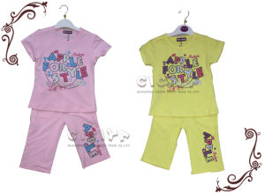 Girl′s Pajama Set (S10147)