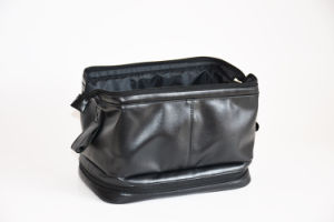 Luxury Black PU PVC Leather Cosmetics Bags for Men pictures & photos