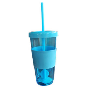Promotional Plastic Straw Cup with Silicone Band pictures & photos