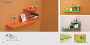 Wooden Wall Shelf (YC-1042, YC-1043, YC-1044)