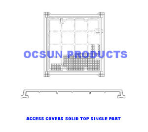 Access Covers Solid Top Single Part Class B pictures & photos