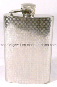 4oz Stainless Steel Hip Flask With Woven Design