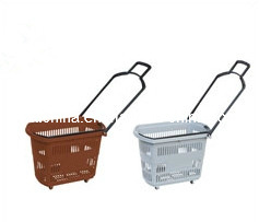 Tl-2 Rolling Basket, Supermarket Basket with Two Function