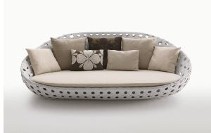 Stylish Outdoor Patio Wicker Rattan Garden Leisure Sofa