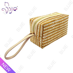 Straw Mat Women Travel High Quality Cosmetic Bag Case pictures & photos
