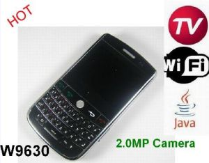 WiFi Java TV Phone Two 2.0MP Cameras Flash Light Greek (W9630)