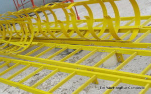 Fiberglass Reinforced Plastic Ladders with Cage pictures & photos