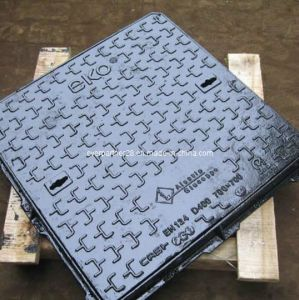 Ductile Iron Casting Sewer Manhole Cover Frame with Lock pictures & photos
